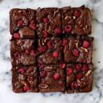 Olive Oil Raspberry and Sea Salt Brownies